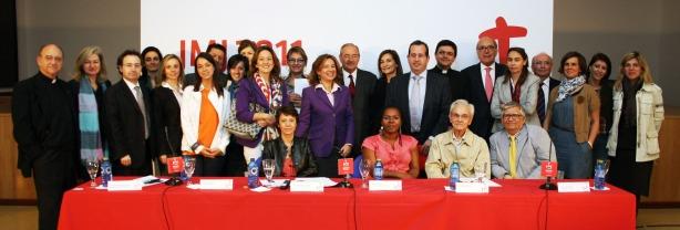 Tím z Oddelenia kultúry Svetových dní mládeže 2011 na tlačovej konferencii v Madride, kedy v utorok 12. apríla 2011 predstavili kultúrny program SDM11.
