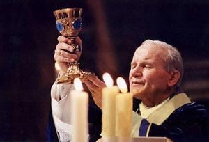 Ján Pavol II. pri celebrovaní svätej omše
