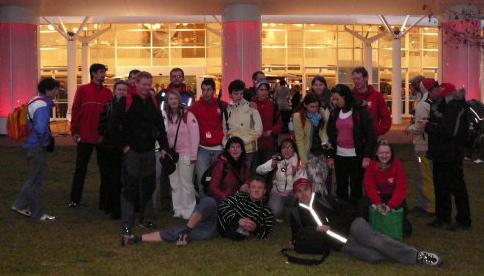 Martina so skupinkou Slovákov, ktorý sa zúčastnili Svetových dní mládeže 2008 v Sydney.
